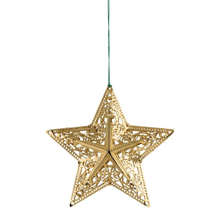 Gold-Plated Brass Sculptural Star