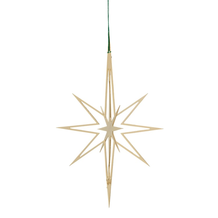 Gold-Plated Brass Two-Fold Star
