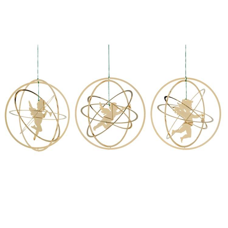 Ringe plastisch mit Putten vergoldet