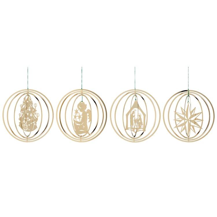 Ringe plastisch mit Weihnachtsmotiven