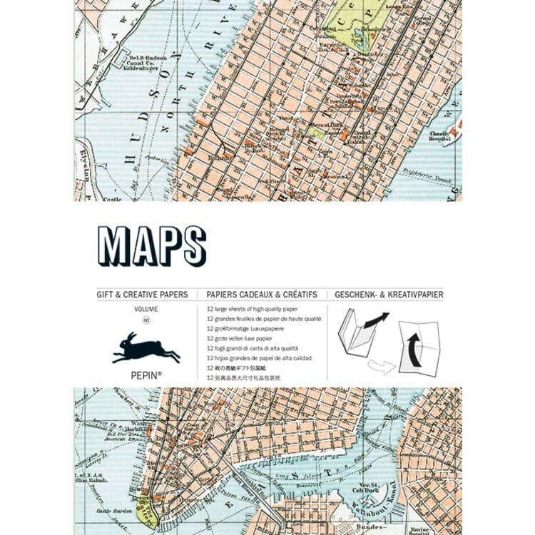 Geschenkpapier Pepin, Maps