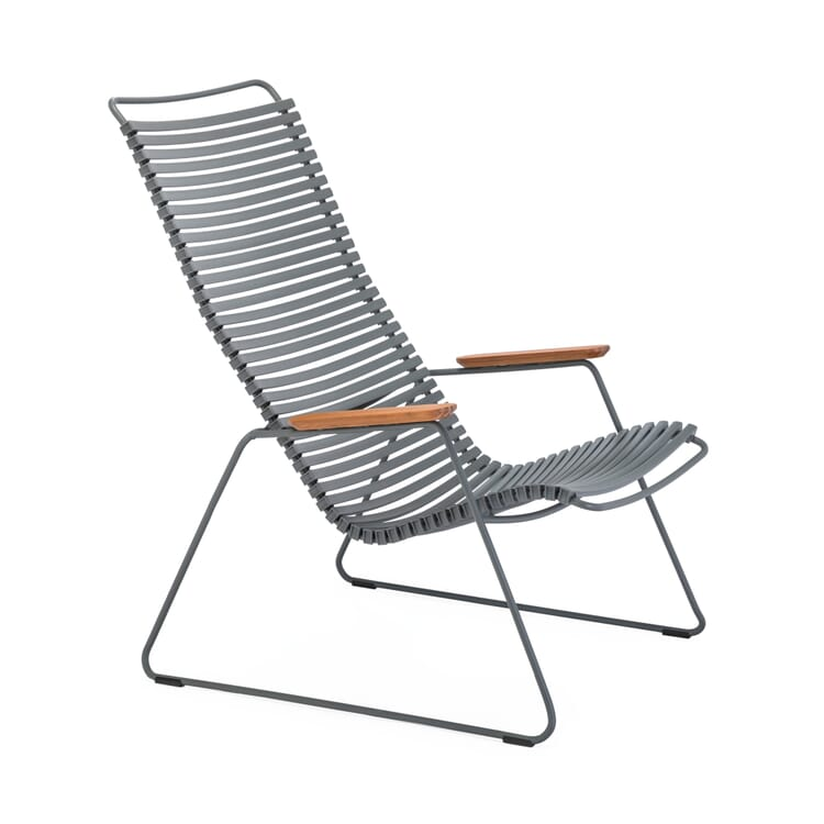 """Garden Lounge Chair """"Click"""", Grey and Grey"""