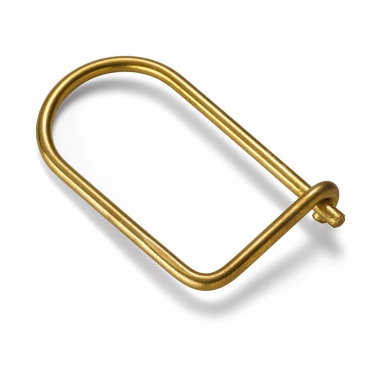 Schlüsselring eckig Messing