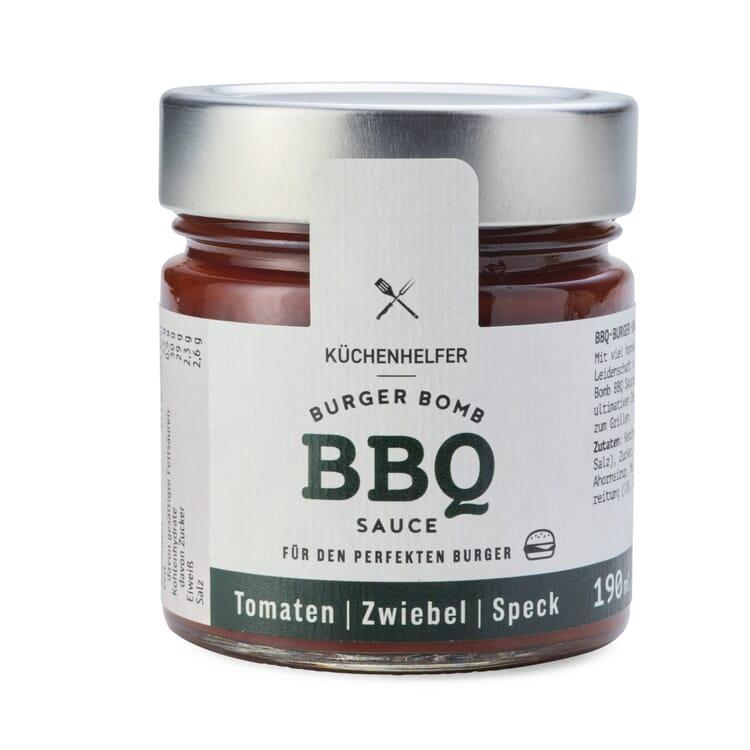 BBQ-Sauce Tomaten Zwiebeln Speck