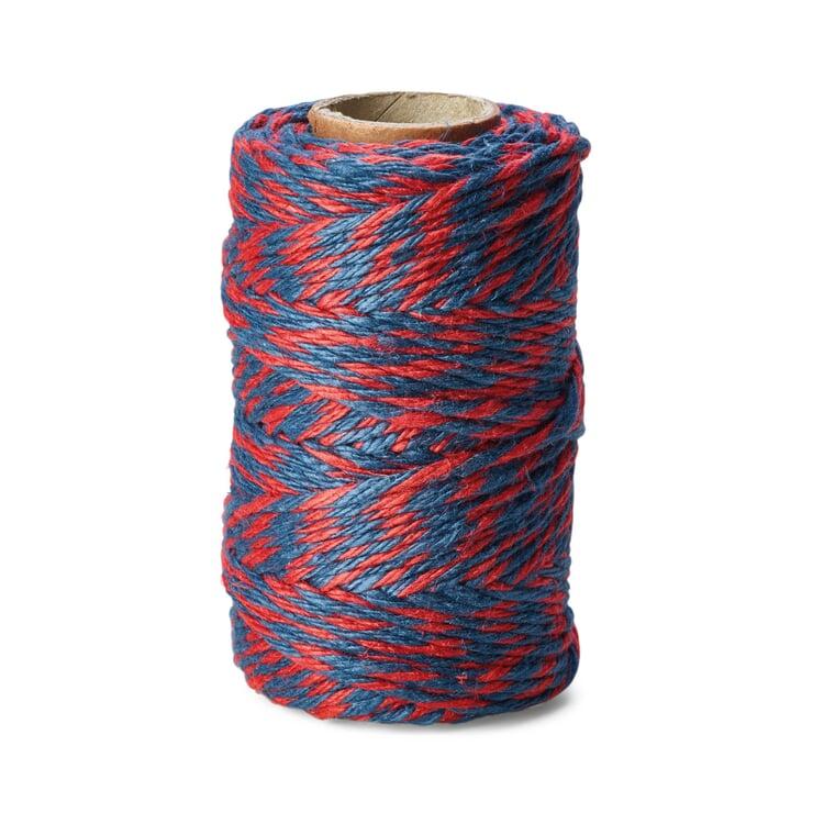 Pure Linen Yarn 6-fold Red/Blue
