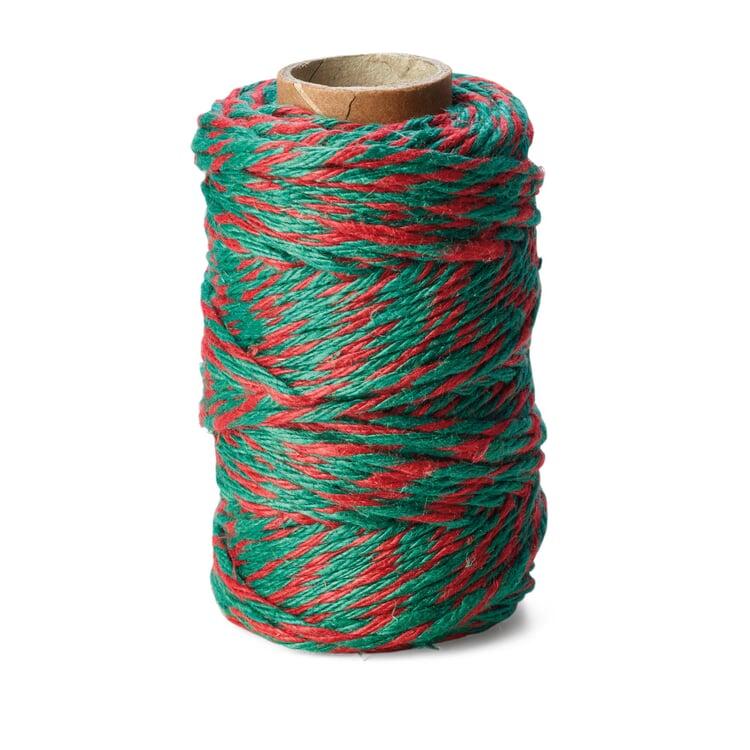 Pure Linen Yarn 6-fold Red/Green