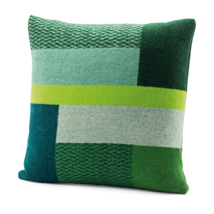 Lambswool Cushion Cover Bauhaus Style by Røros Green