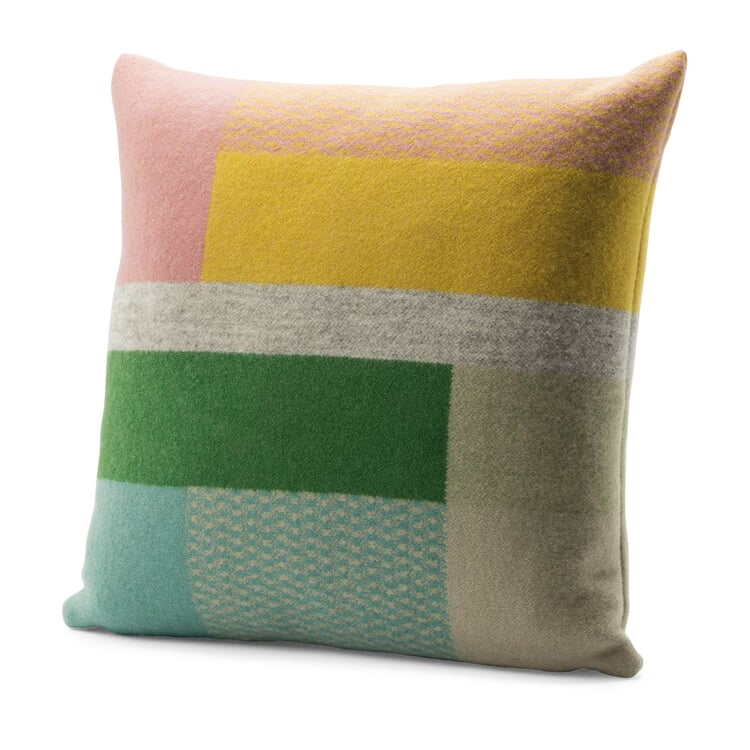 Lambswool Cushion Cover Bauhaus Style by Røros Pastel