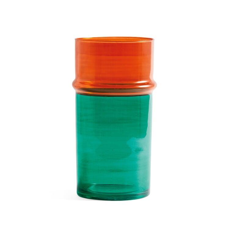 Vase Moroccan, groß Grün/Orange