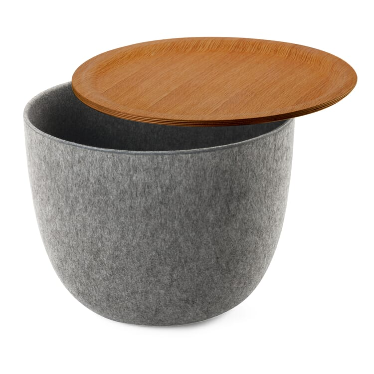 Side Table Ronda, Grey and Oak