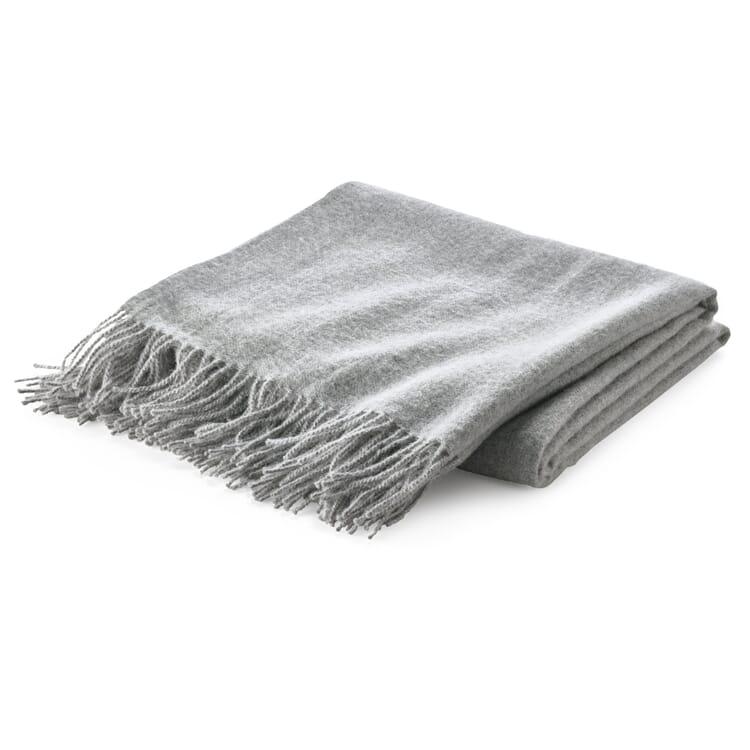 Baby Alpaca Blanket, Light Grey