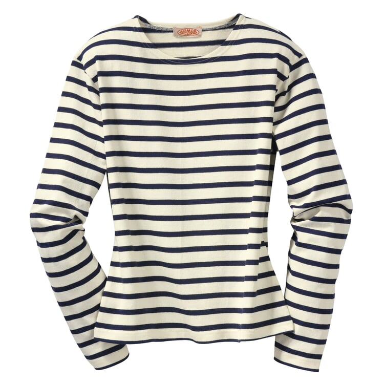 Armor lux Women's Knitted Sweater Ecru and navy