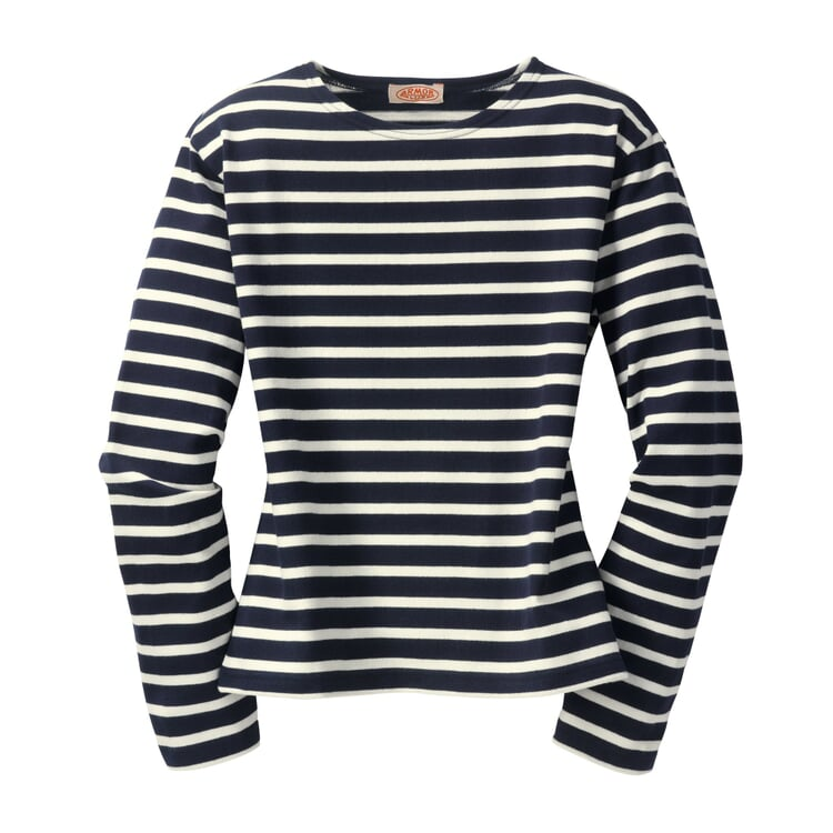 Armor lux Women's Knitted Sweater Navy and ecru