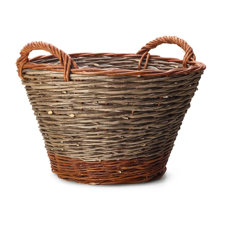 Garden Basket Made of Robinia and Willow, Large