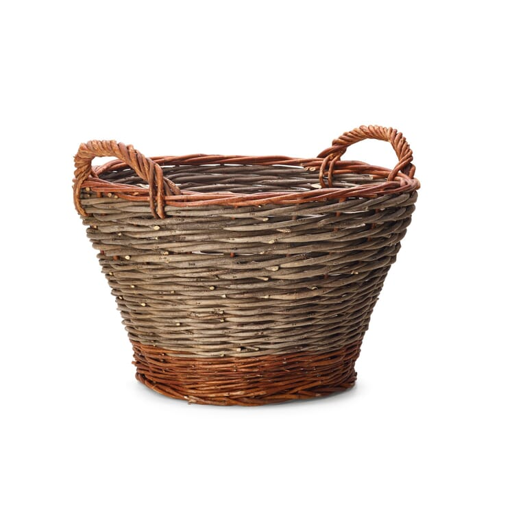 Garden Basket Made of Robinia and Willow, Small