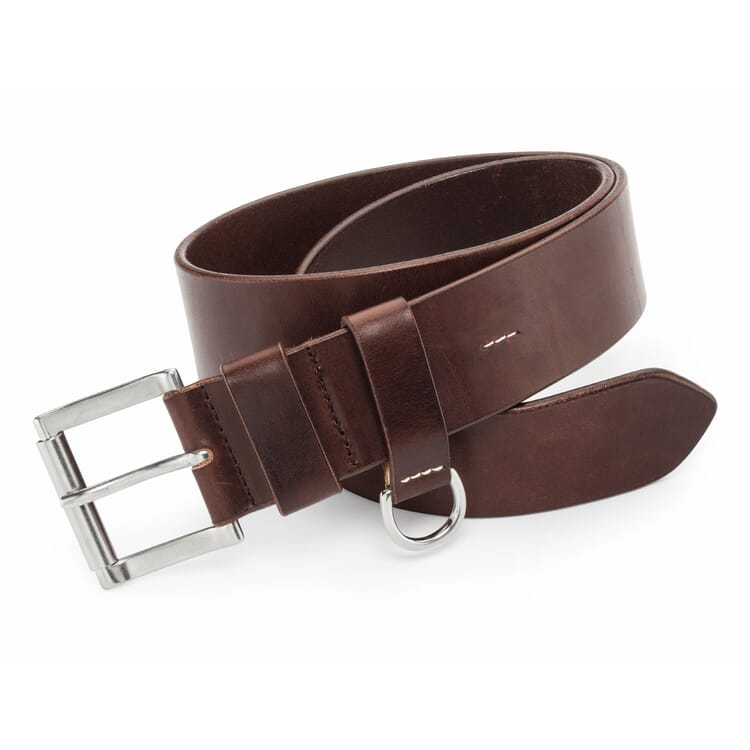 Kreis Roller Buckle Belt with D-Ring, Dark brown