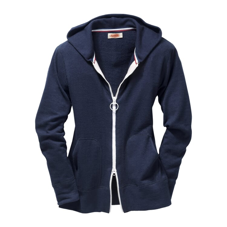 Women's Terry Cloth Tracksuit Top with a Hood by Armor lux, Blue