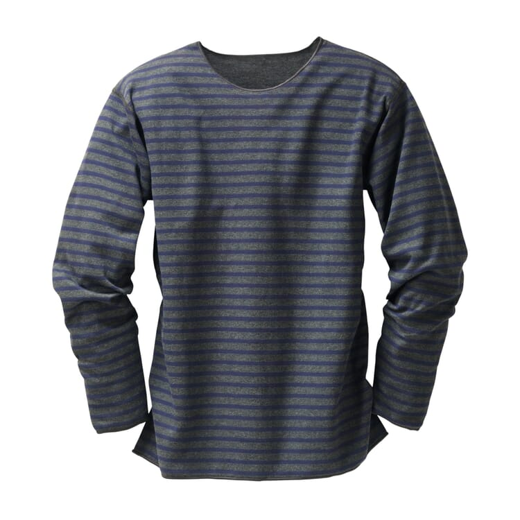 Armor lux Streifen-Shirt, Anthrazit