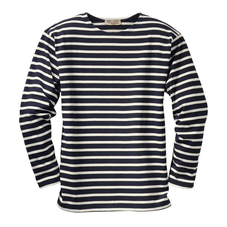 Armor lux Knit Jumper Navy Blue and Natural Coloured