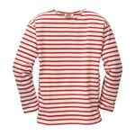 Armor lux Knit Jumper Natural Coloured and Red