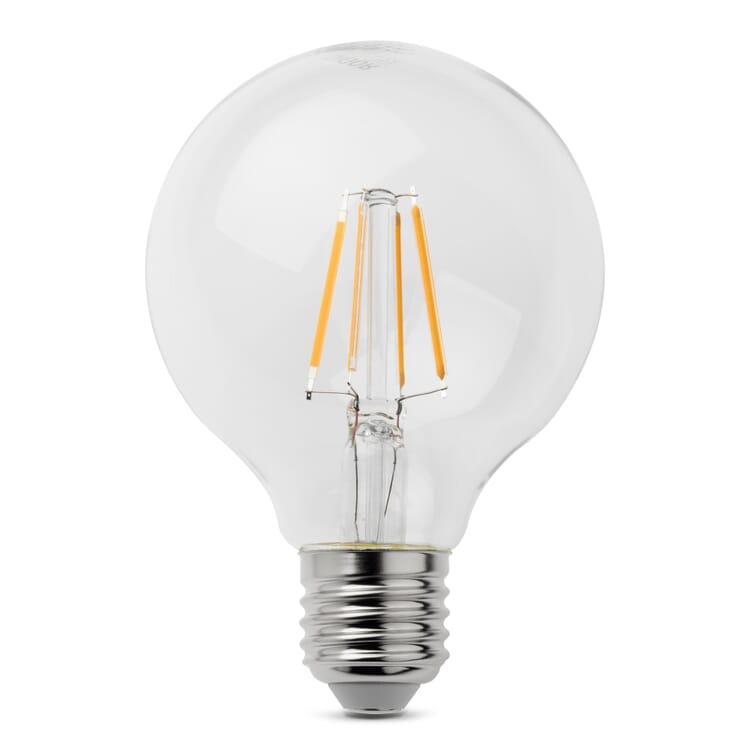 LED Filament Light Bulb Globe Shape Ø 80 mm E27 Screw Cap