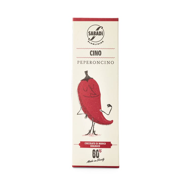 Bio-Schokolade mit Peperoni