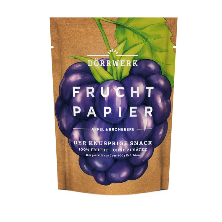 Fruit Leather Made from Blackberries and Apples by Dörrwerk