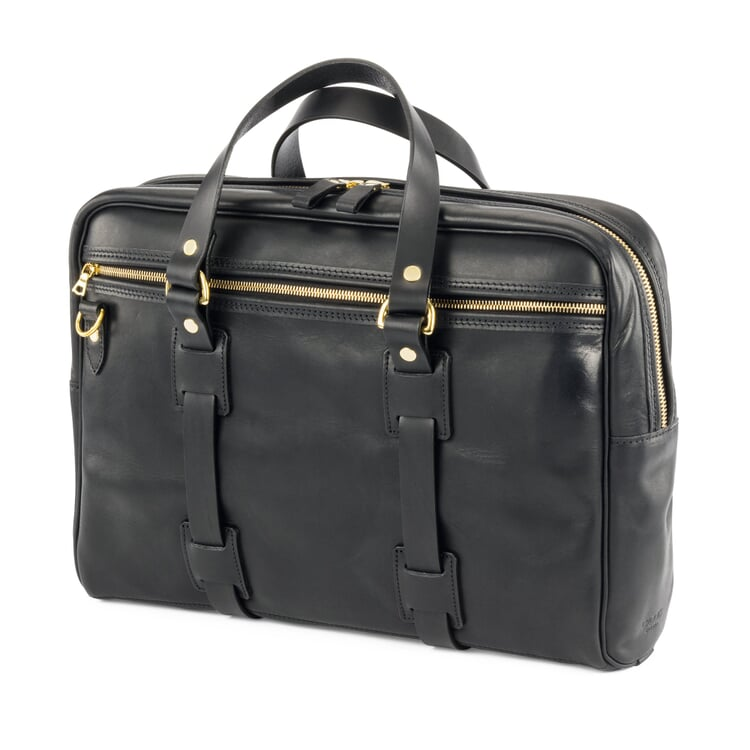 Croots Leder-Laptop-Tasche