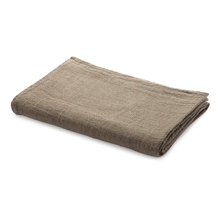 Tablecloth Washed Linen Natural-Colored 130 × 130 cm