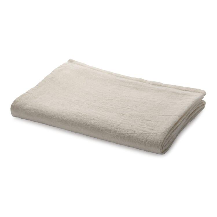 Tischdecke gewaschenes Leinen, Weiß