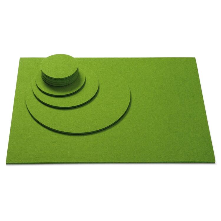 Felt Mat 45 × 35 cm Green