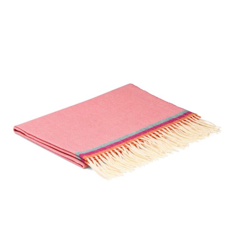 Children's Woollen Blanket with Stripes, Pink