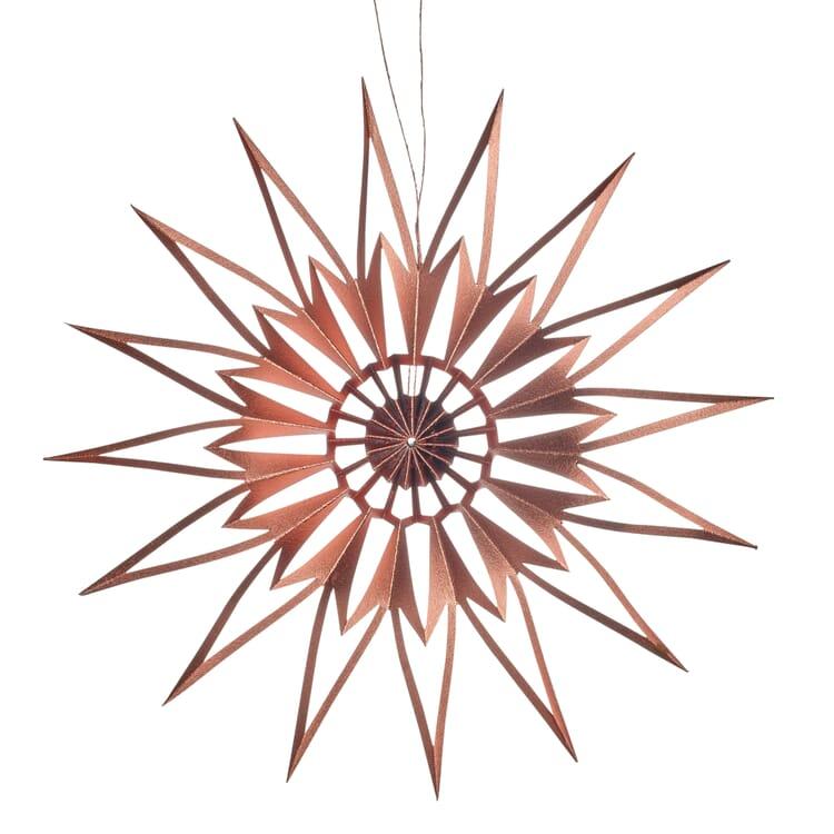 Stern Scherenschnitt, Kupfer