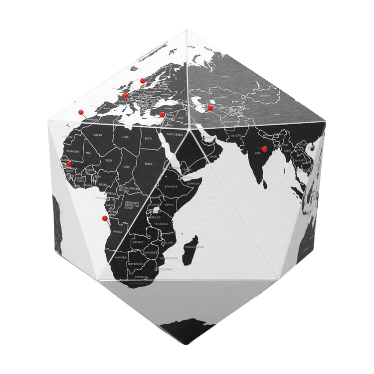 Paper globe, 3-dimensional, Countries