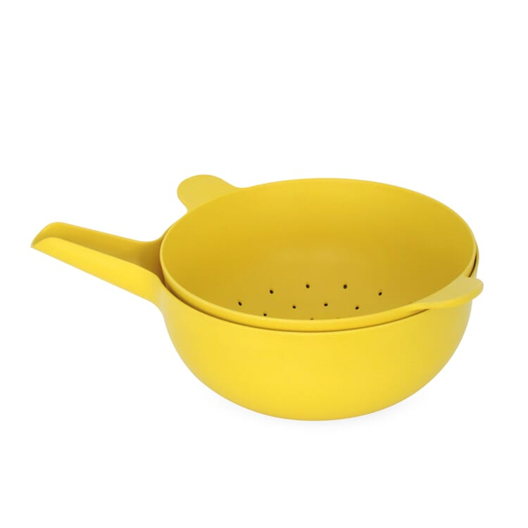 """Bowl and Colander """"Pronto"""", Yellow"""