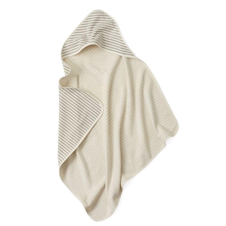 Children's Hooded Towel Fine Stripes