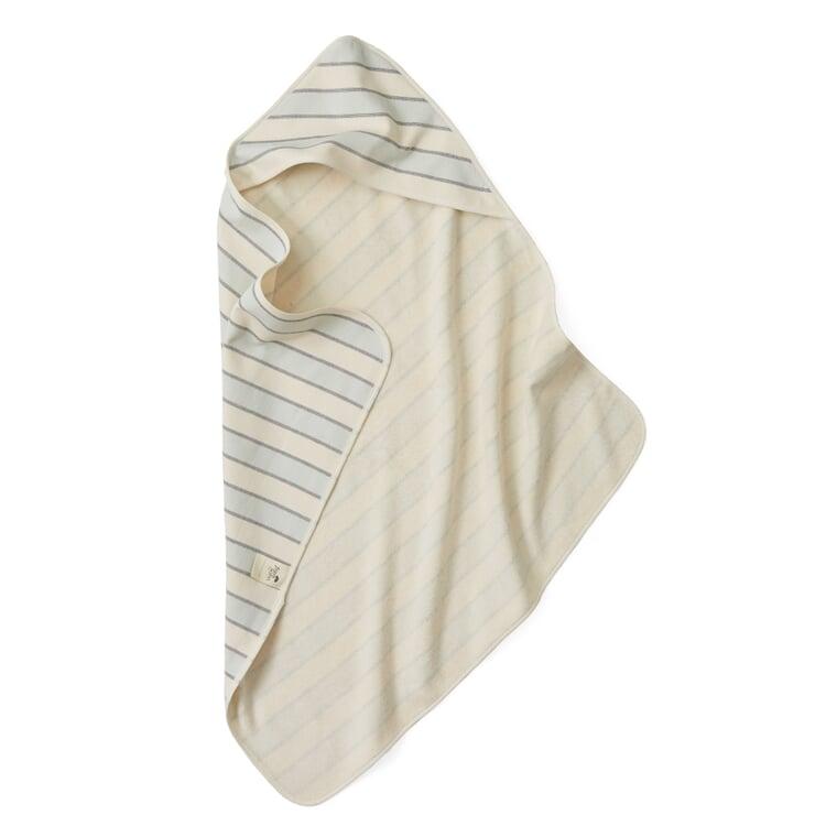 Children's Hooded Towel Coloured Stripes