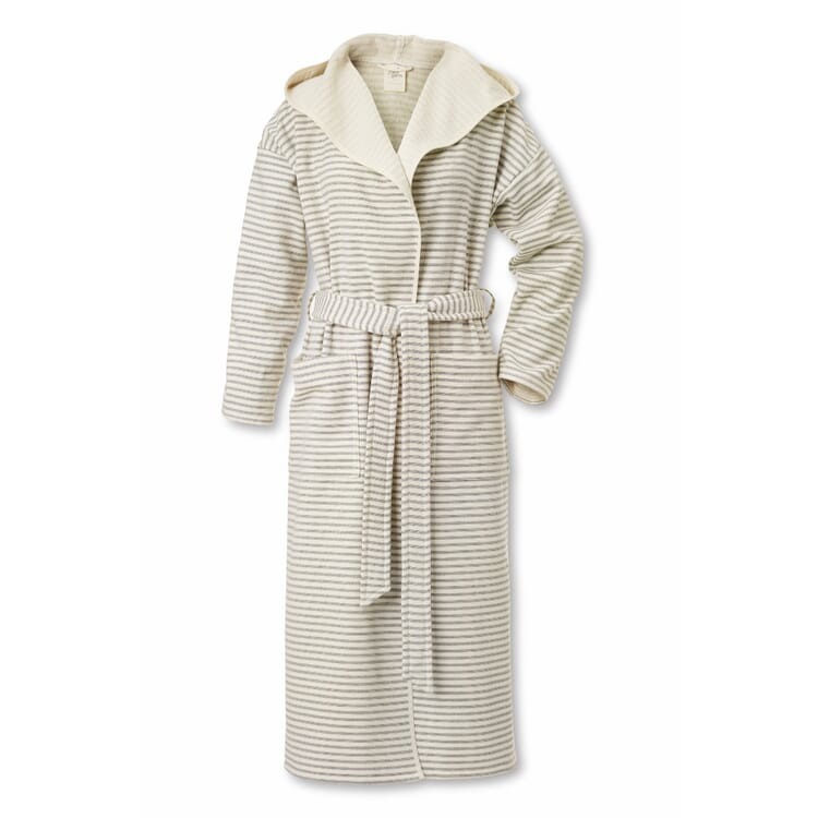 Framsohn Bathrobe Small, Fine Stripes