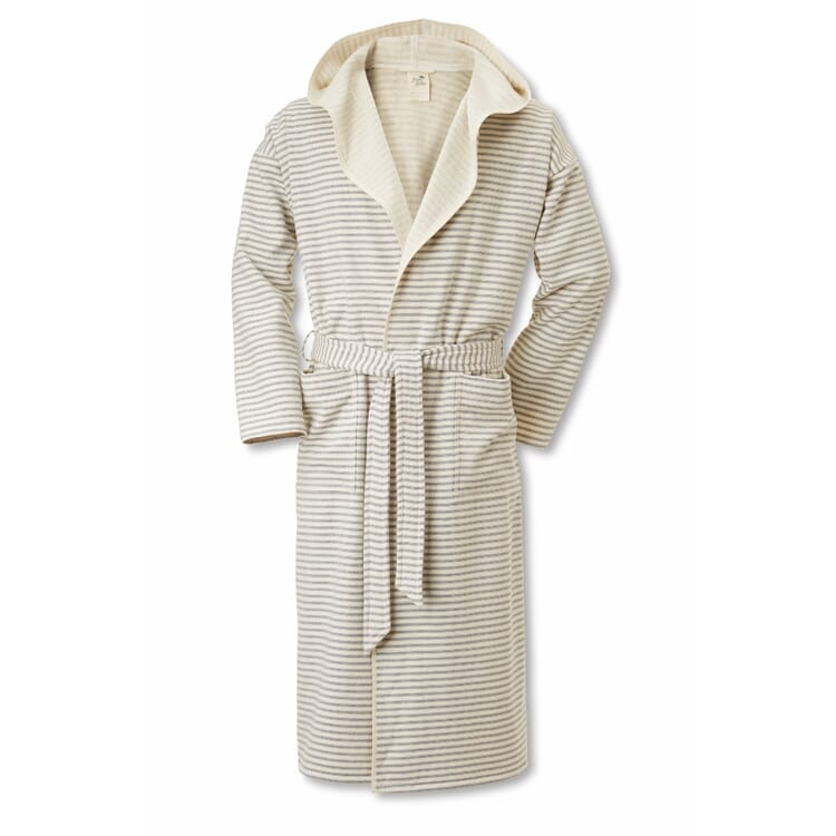 Framsohn Bathrobe Large, Fine Stripes