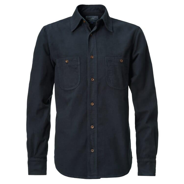 Manifattura Ceccarelli Moleskin Shirt, Dark blue