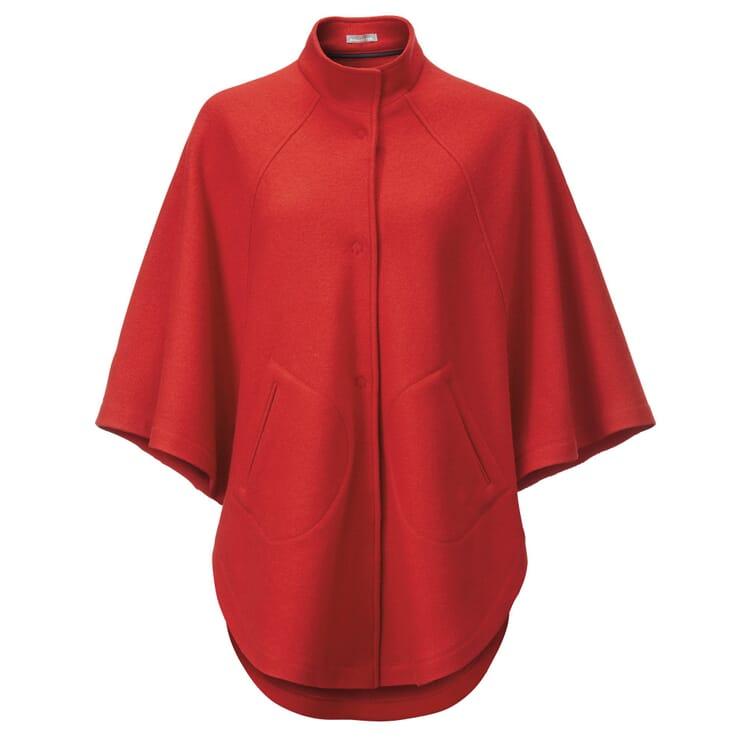 Manufactum Damenwollcape, Rot
