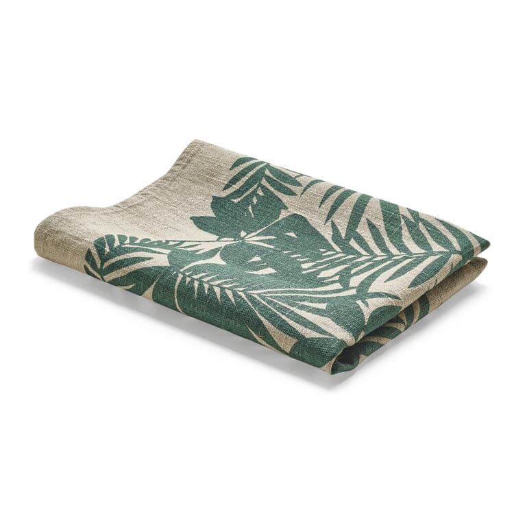 Kitchen Towel with Overprint Leaves
