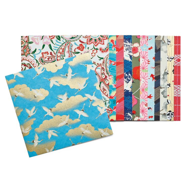 Origami Paper with Chiyogami Patterns