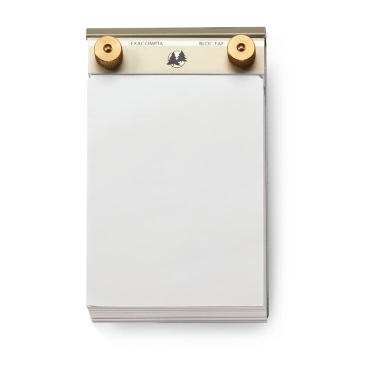 Aluminum and Brass Memo Pad Small