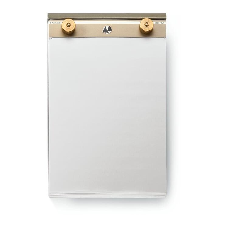 Aluminum and Brass Memo Pad Medium