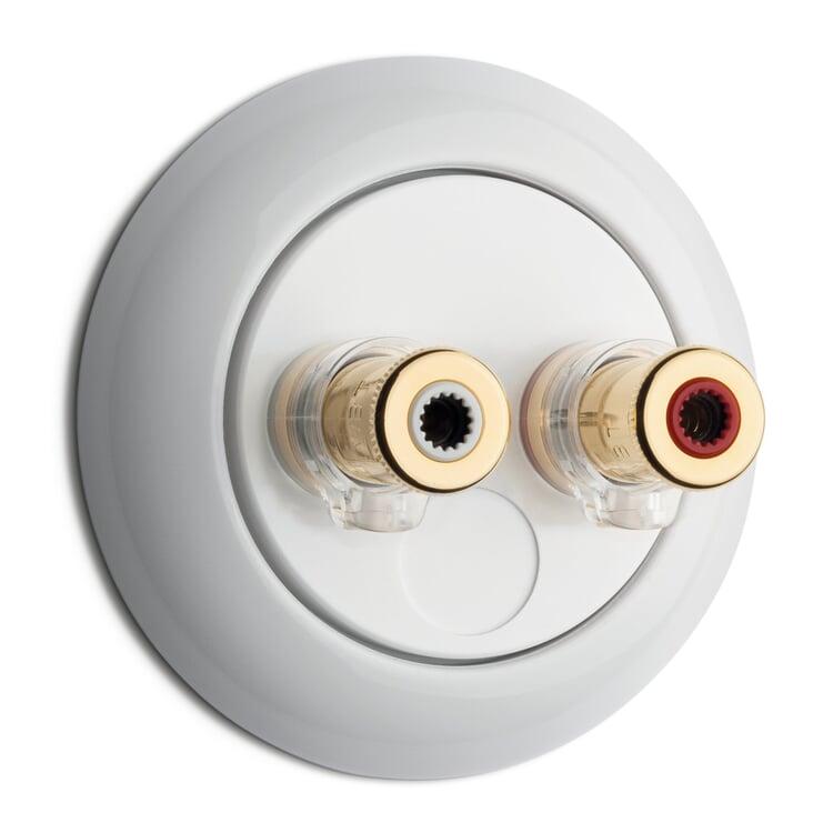 Lautsprecheranschlussdose WBT nextgen™ Porzellan weiß