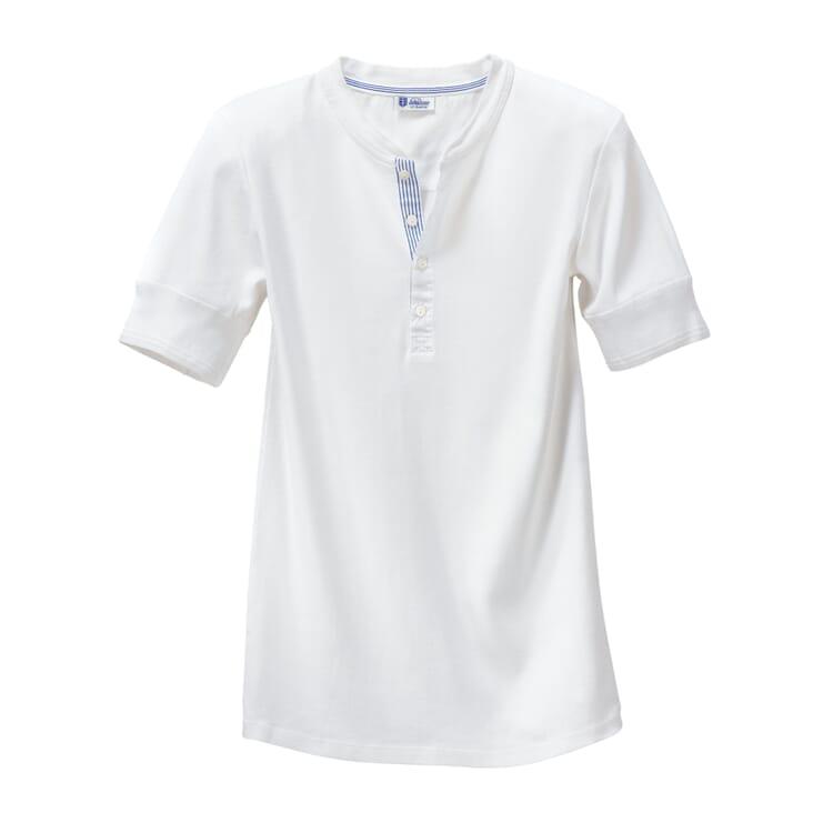 Herren-Unterhemd Halbarm Feinripp, Weiß