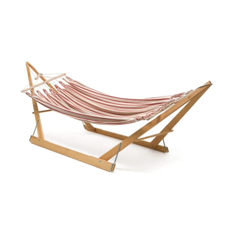 Double Hammock in Cotton, Beige/Red