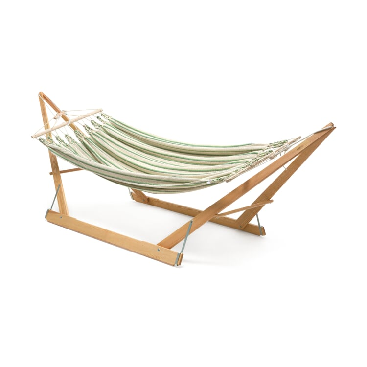 Double Hammock in Cotton Beige/Green