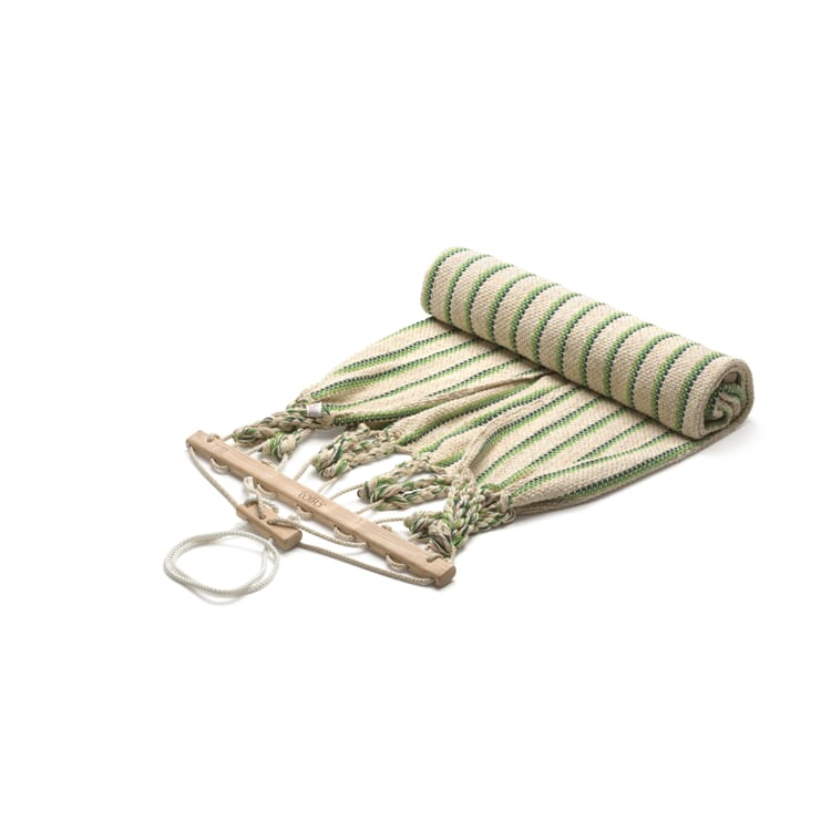 Einzelhängematte Baumwolle, Beige/Grün